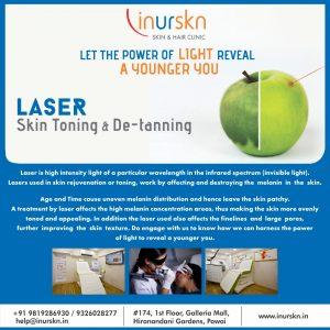 laser skin toning and de-tanning